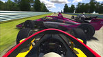 In this image taken from a video provided by iRacing IndyCar, IndyCar driver Kyle Kirkwood, foreground, collides with Alexander Rossi (27) during the early running of the American Red Cross Grand Prix virtual IndyCar auto race at Watkins Glen International, Saturday, March 28, 2020. (iRacing IndyCar via AP)