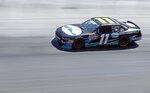 Driver Ryan Truex is practices for a NASCAR Xfinity Series auto race on Friday, April 13, 2018, in Bristol, Tenn. (AP Photo/Wade Payne)