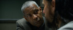 This image released by Warner Bros. Pictures shows Denzel Washington and Jared Leto in a scene from
