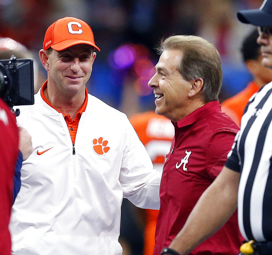 Dabo Swinney, Nick Saban