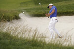 Gary Woodland hits out of a bunker on the sixth hole during the third round of the U.S. Open golf tournament Saturday, June 15, 2019, in Pebble Beach, Calif. (AP Photo/Carolyn Kaster)