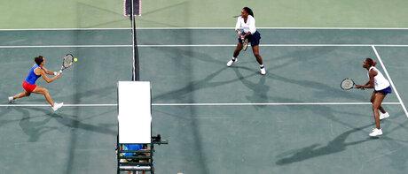 Lucie Safarova, Venus Williams, Serena Williams