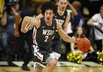 Washington State forward CJ Elleby drives up the court with the ball against Colorado in the first half of an NCAA college basketball game Thursday, Jan. 23, 2020, in Boulder, Colo. (AP Photo/David Zalubowski)