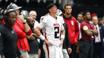 Atlanta Falcons quarterback Matt Ryan (2) watches a replay on the sidelines during the second half of an NFL football game against the Philadelphia Eagles, Sunday, Sept. 12, 2021, in Atlanta. The Philadelphia Eagles won 32-6. (AP Photo/John Bazemore)