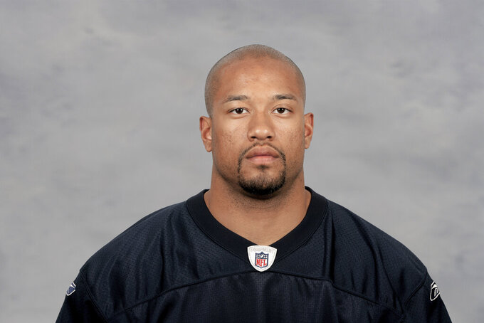 FILE - This is an April 16, 2009, file photo showing then-Chicago Bears NFL football team member Marcus Freeman. Notre Dame is counting on new defensive coordinator Marcus Freeman to groom a hungry unit in hopes of another trip to the College Football Playoff and the school's first national championship since 1988. (AP Photo/File)