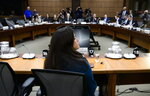 Jody Wilson-Raybould appears at the House of Commons Justice Committee on Parliament Hill in Ottawa on Wednesday, Feb. 27, 2019. Wilson Raybould is testifying she experienced a consistent and sustained effort by many people in Prime Minister Justin Trudeau's government to inappropriately interfere in the prosecution of a major Canadian engineering company. (Adrian Wyld/The Canadian Press via AP)
