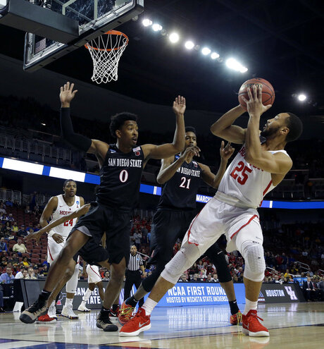 NCAA San Diego St Houston Basketball