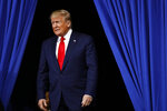 President Donald Trump arrives to speak at a campaign rally, Tuesday, Dec. 10, 2019, in Hershey, Pa. (AP Photo/Patrick Semansky)