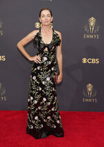 Julianne Nicholson arrives at the 73rd Primetime Emmy Awards on Sunday, Sept. 19, 2021, at L.A. Live in Los Angeles. (AP Photo/Chris Pizzello)