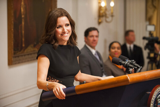 This image released by HBO shows Julia Louis-Dreyfus in