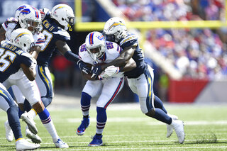 Charger Bills Football