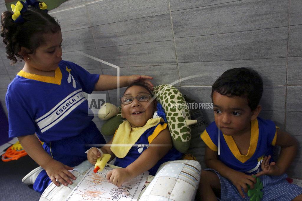 Brazil Zika Kids Boy in Bucket