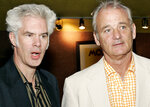 FILE - In this July 27, 2005 file photo, actor Bill Murray, right, stands with film director Jim Jarmusch, left, at the premiere of