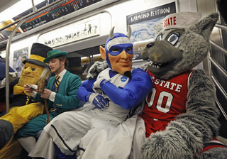 Demon Deacon, Leprechaun, Blue Devil, Mr. Wuf