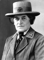 Juliette Gordon Low of Savannah, Ga., is shown in this undated photo. Low founded the U.S. Girl Scout movement in 1912.   Lawmakers can expect face-to-face meetings with Girl Scouts from across Georgia Feb. 2018,  at the state Capitol, where the young scouts plan on treating legislators to a milk-and-cookie reception. These girls bearing gifts of Thin Mints and Samoas will also come packing an agenda. They want Savannah's towering suspension bridge renamed in honor of Girl Scout's founder Juliette Gordon Low. (AP Photo, File)