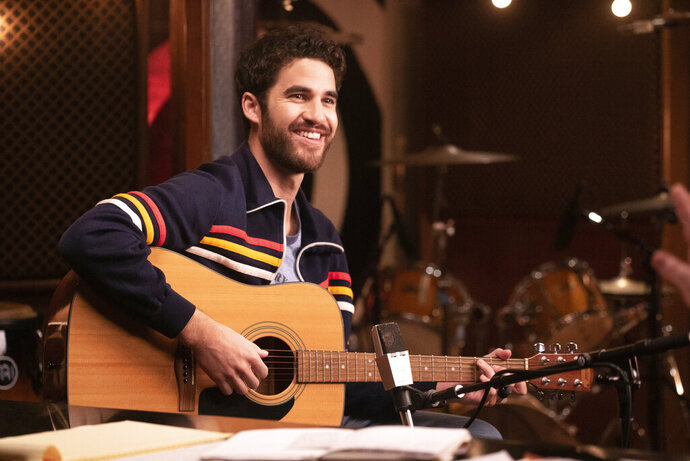 """This image released by Quibi shows Darren Criss in a scene from Quibi's new 12-part series """"Royalties."""