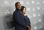Kanye West, left, and wife Kim Kardashian West attend the WSJ. Magazine 2019 Innovator Awards at the Museum of Modern Art on Wednesday, Nov. 6, 2019, in New York. (Photo by Evan Agostini/Invision/AP)