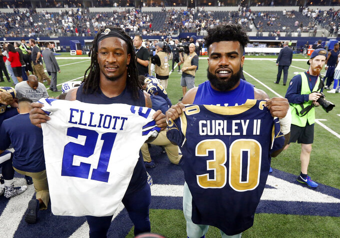 Gurley meets Elliott in big-time showcase for NFL's top RBs