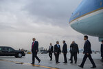 President Donald Trump arrives at Miami International Airport to attend the Republican National Committee winter meetings, Thursday, Jan. 23, 2020, in Miami. (AP Photo/ Evan Vucci)