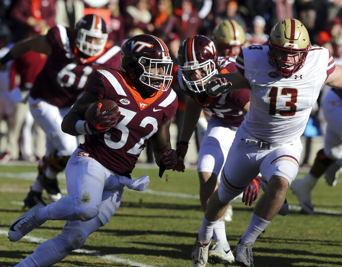Levy runs No. 24 Boston College past Virginia Tech, 31-21