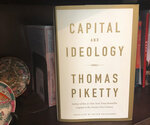 """This Saturday, April 25, 2020 photo shows the cover of """"Capital and Ideology"""