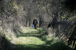 "Kosovo Albanian Fadil Rama walking in the deserted village carries groceries to a Kosovo Serb Blagica Dicic a lonely 92-year old woman in a remote village of Vaganesh, Kosovo on Thursday, Nov. 19, 2020, abandoned by all her former ethnic Serb neighbors. Neighbor Blagica Dicic, is 92 and in failing health, in the remote ethnic Serb minority village in the mountains of eastern Kosovo but Fadil Rama comes from the other side of Kosovo's bitter ethnic divide, being a member of Kosovo's ethnic Albanian majority and Rama said he saw nothing strange in helping an elderly Serb. ""I will never leave her on her own,"" he said.  (AP Photo/Visar Kryeziu)"