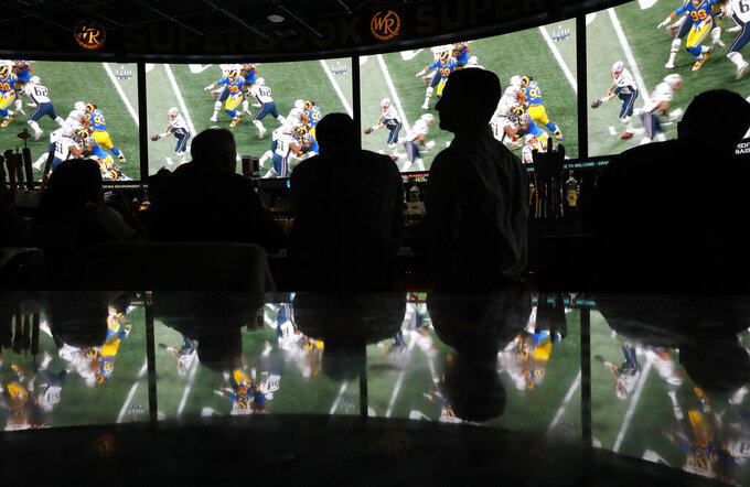 Fans in 3 states legally bet almost $185.5M on Super Bowl