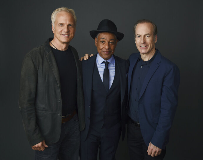 From left, Patrick Fabian, Giancarlo Esposito and Bob Odenkirk, cast members in the AMC drama series