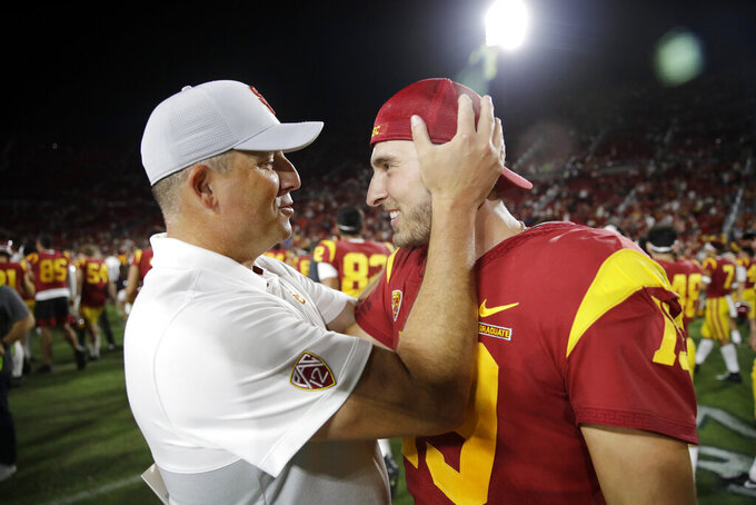 QB Fink likely to start for No. 21 USC with Slovis still out
