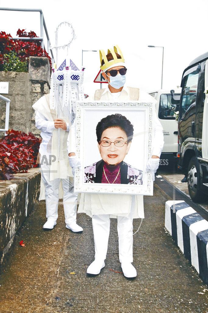 CHINA CHINESE AARON KWOK MOTHER FUNERAL HONG KONG